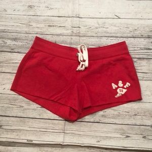 Abercrombie High-Rise Curved Hem Fleece Short